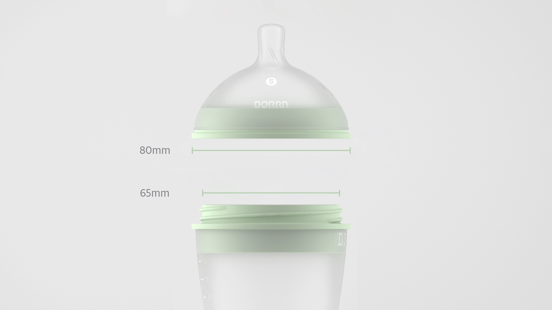 BORRN Silicone Feeding Bottle