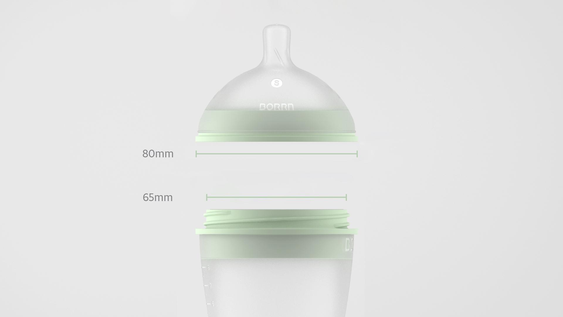 BORRN Silicone Feeding Bottle