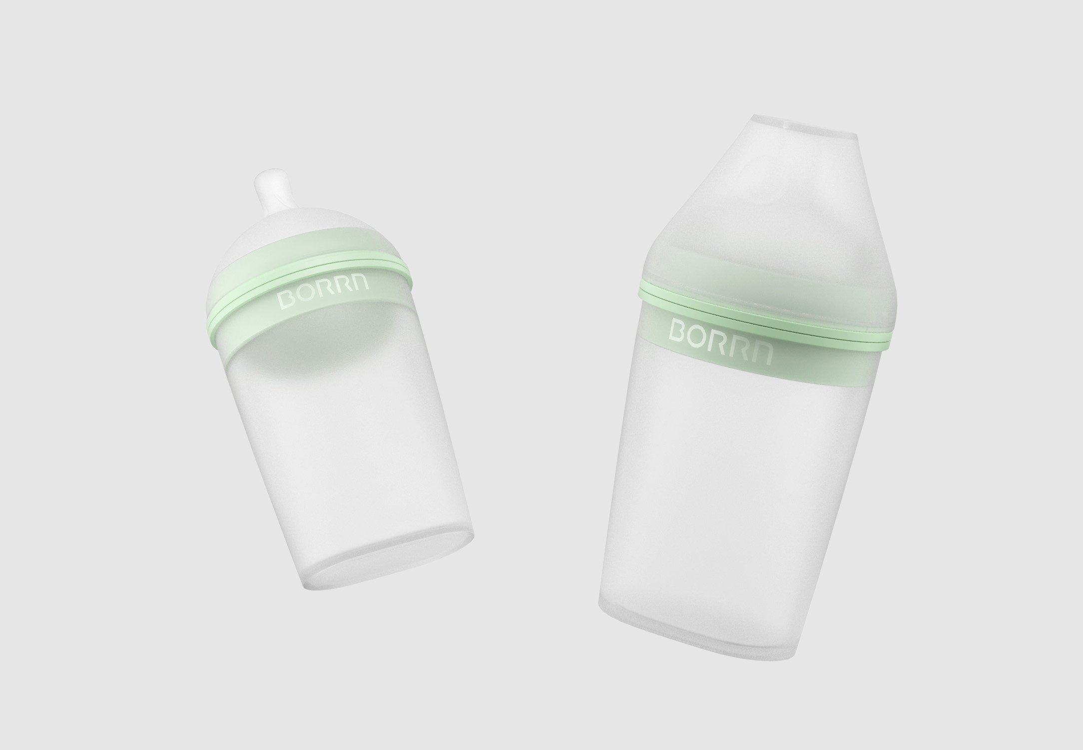 BORRN's soft and squishy silicon bottles